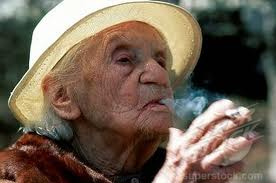 100 year old woman smoking on Ledbury Portal
